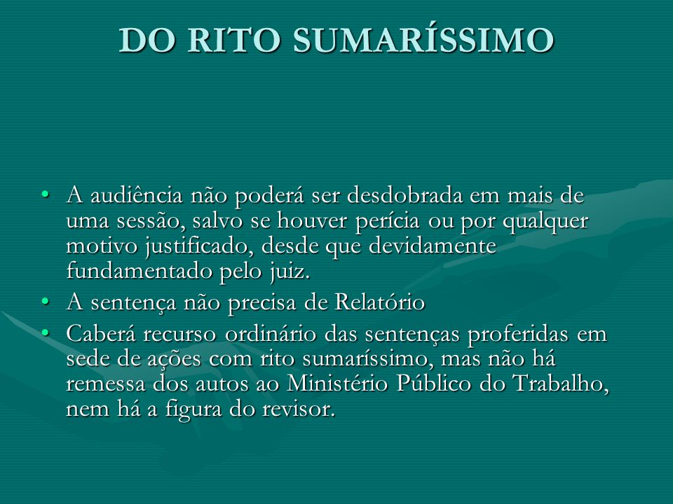 DO RITO SUMARÍSSIMO
