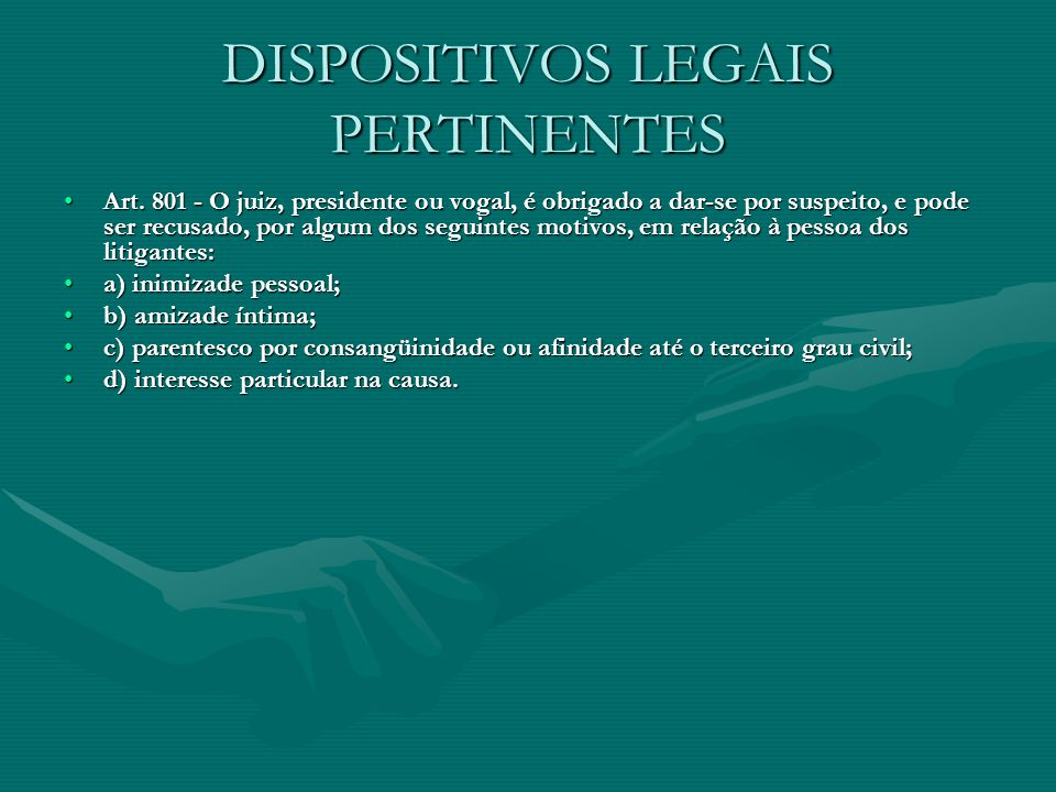 DISPOSITIVOS LEGAIS PERTINENTES