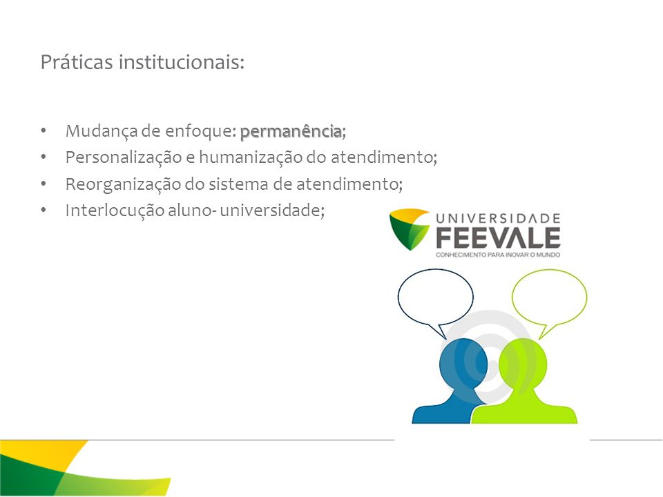 Práticas institucionais: