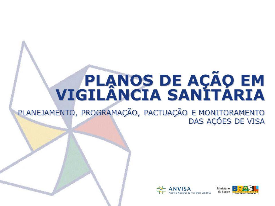 PLANOS DE AÇÃO EM VIGILÂNCIA SANITÁRIA PLANEJAMENTO, PROGRAMAÇÃO, PACTUAÇÃO E MONITORAMENTO DAS AÇÕES DE VISA