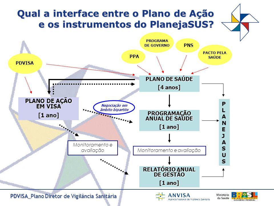 Qual a interface entre o Plano de Ação e os instrumentos do PlanejaSUS