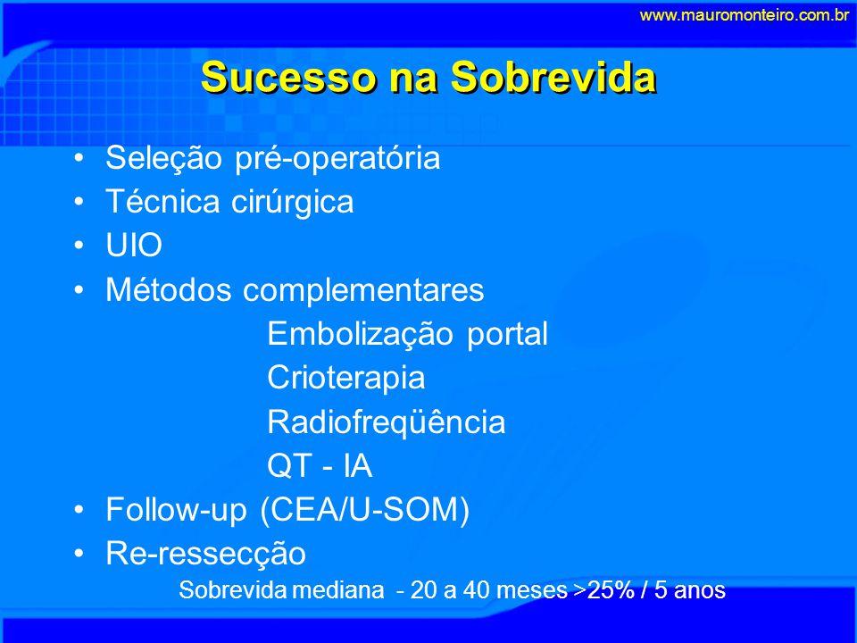 Sucesso na Sobrevida Seleção pré-operatória Técnica cirúrgica UIO