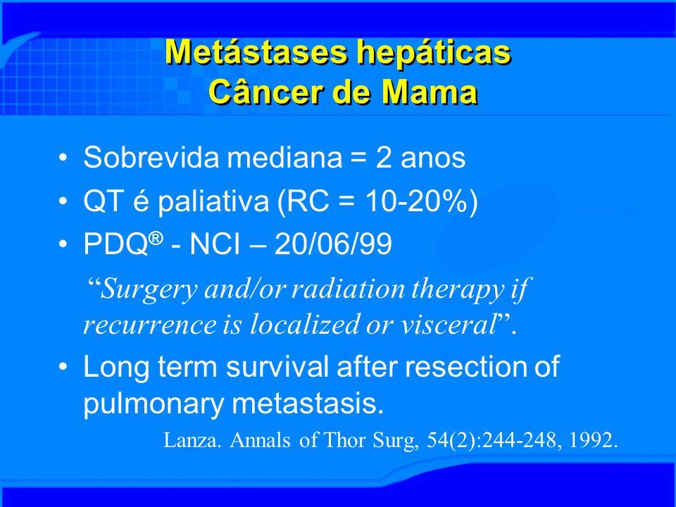 Metástases hepáticas Câncer de Mama