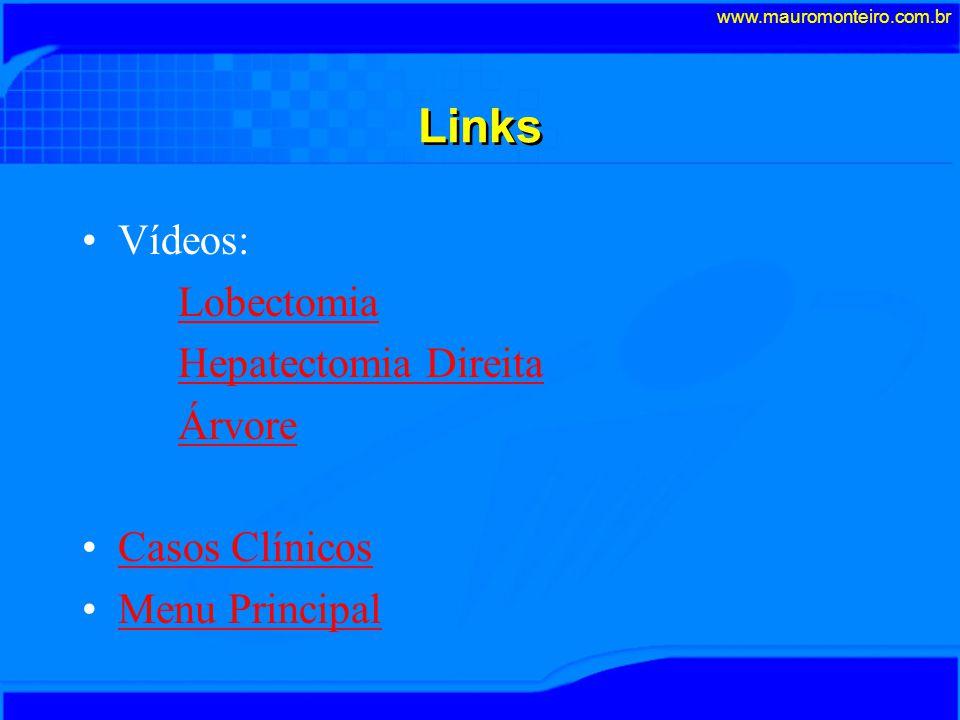 Links Vídeos: Lobectomia Hepatectomia Direita Árvore Casos Clínicos