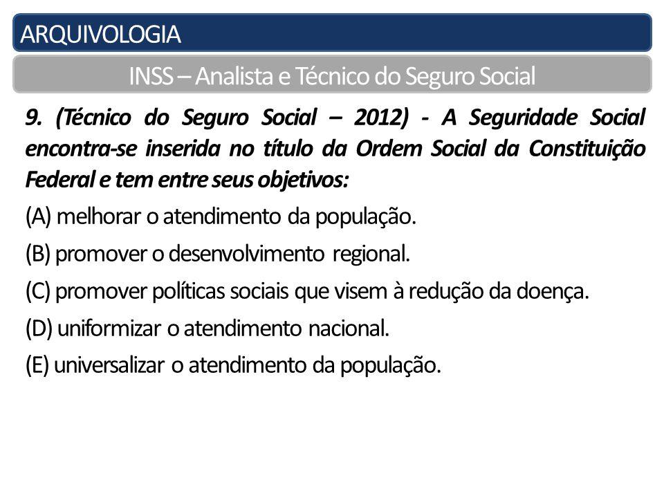 INSS – Analista e Técnico do Seguro Social