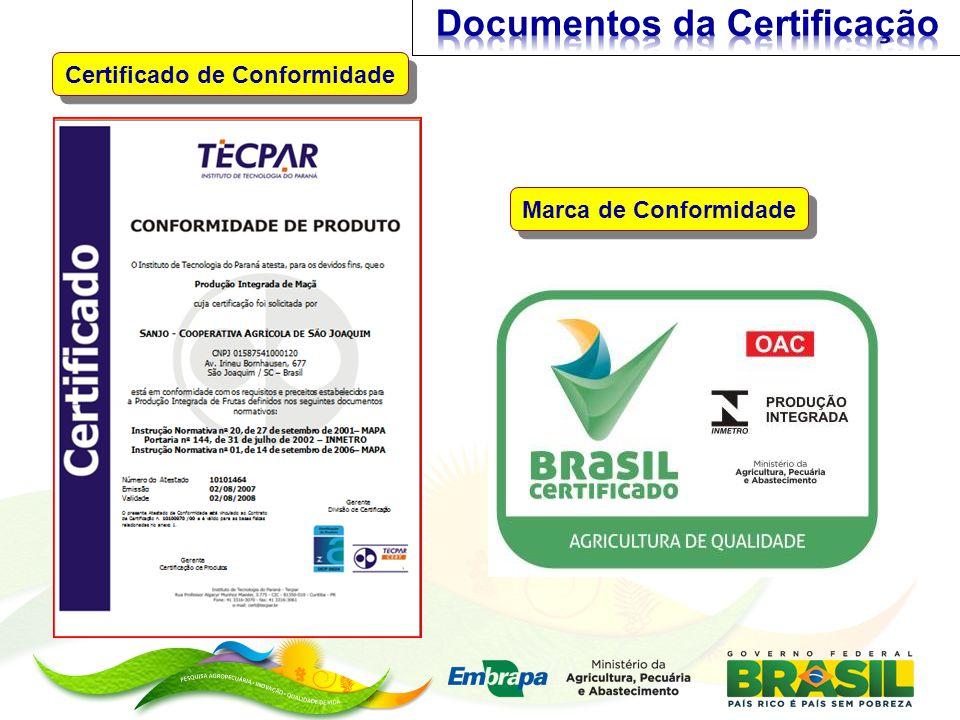 Documentos da Certificação Certificado de Conformidade