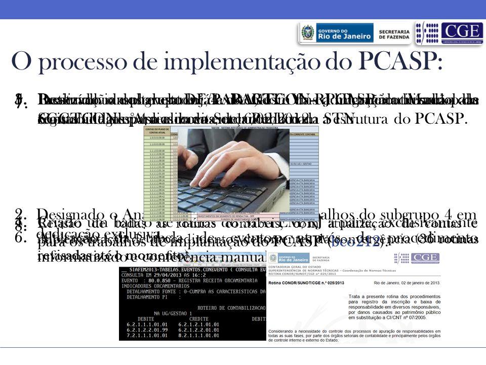 O processo de implementação do PCASP: