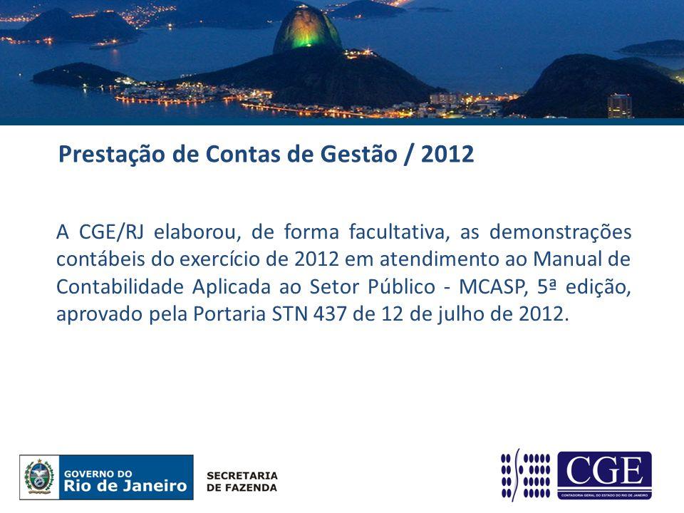 Prestação de Contas de Gestão / 2012