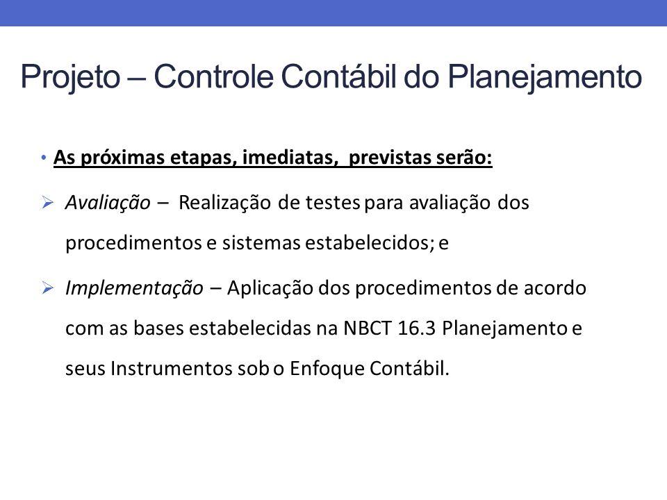 Projeto – Controle Contábil do Planejamento