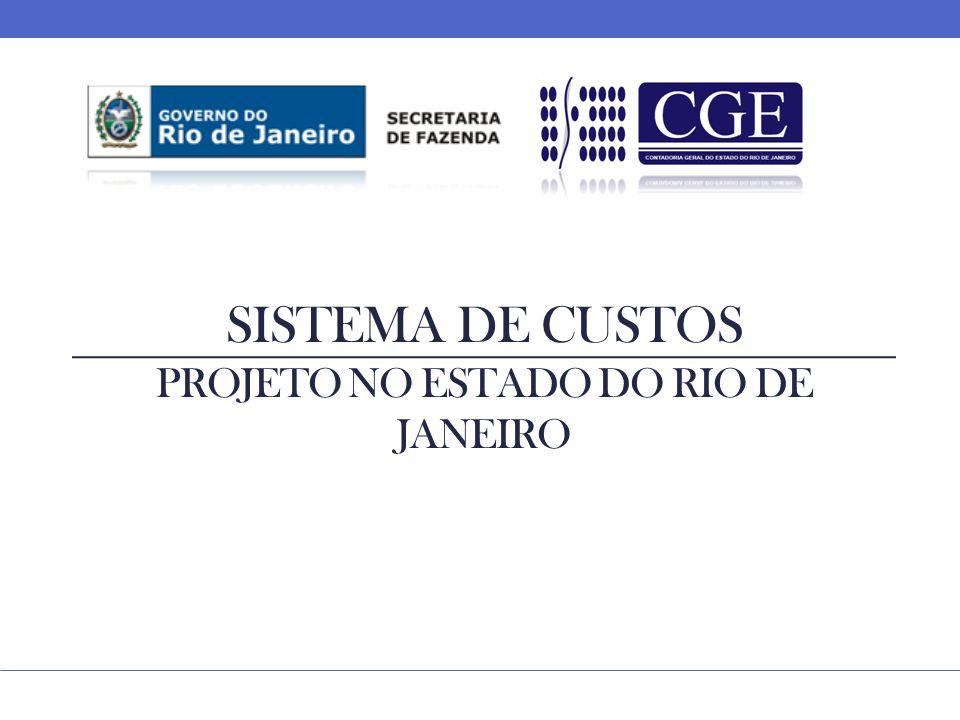 Sistema de custos projeto no estado do rio de janeiro