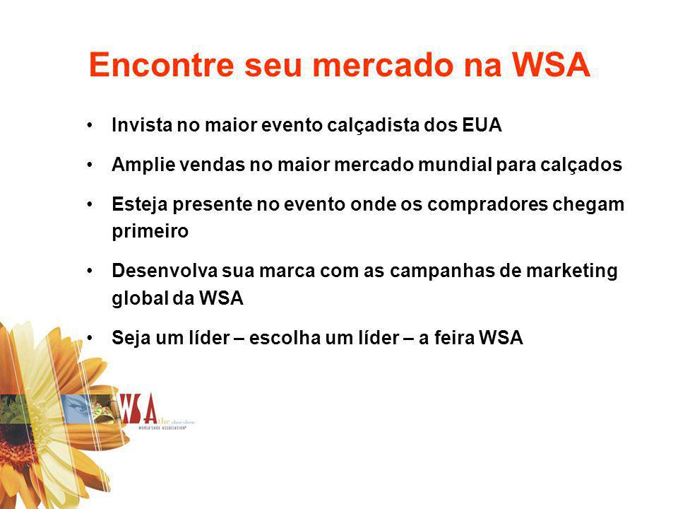 Encontre seu mercado na WSA