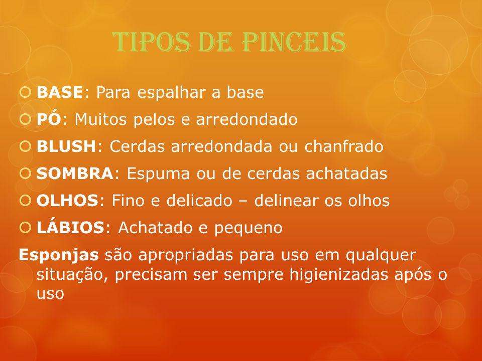 TIPOS DE PINCEIS BASE: Para espalhar a base