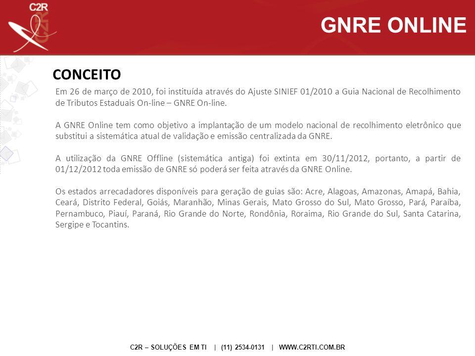 GNRE ONLINE CONCEITO.