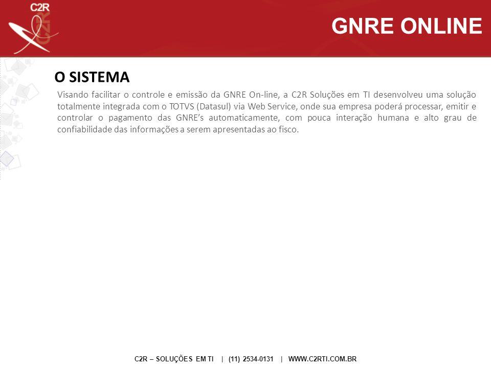 GNRE ONLINE O SISTEMA.
