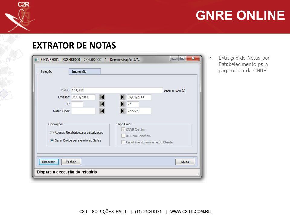 GNRE ONLINE EXTRATOR DE NOTAS