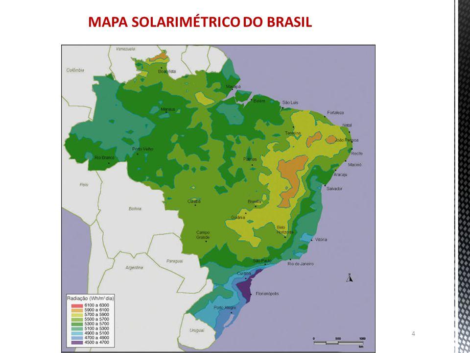 MAPA SOLARIMÉTRICO DO BRASIL