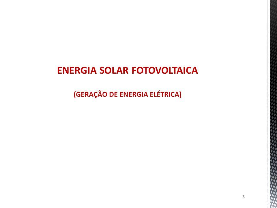 ENERGIA SOLAR FOTOVOLTAICA (GERAÇÃO DE ENERGIA ELÉTRICA)