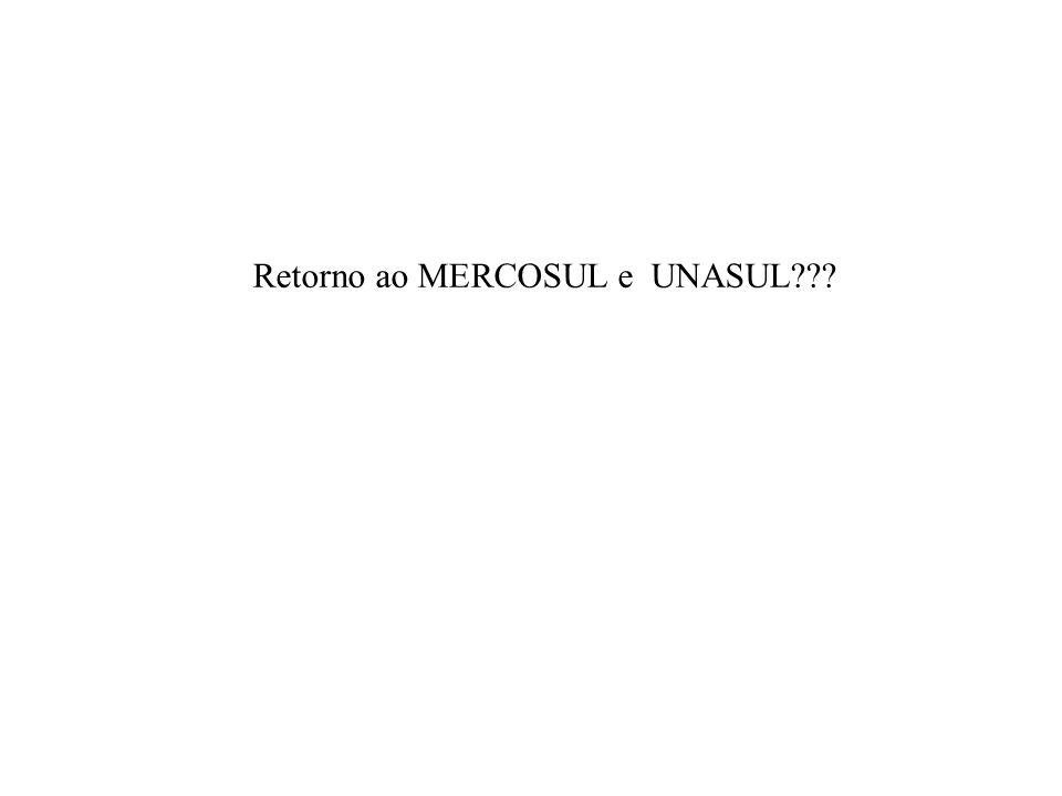 Retorno ao MERCOSUL e UNASUL