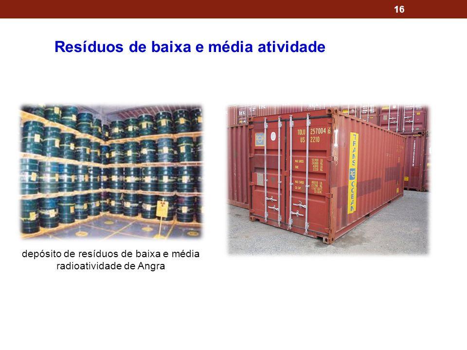 depósito de resíduos de baixa e média radioatividade de Angra
