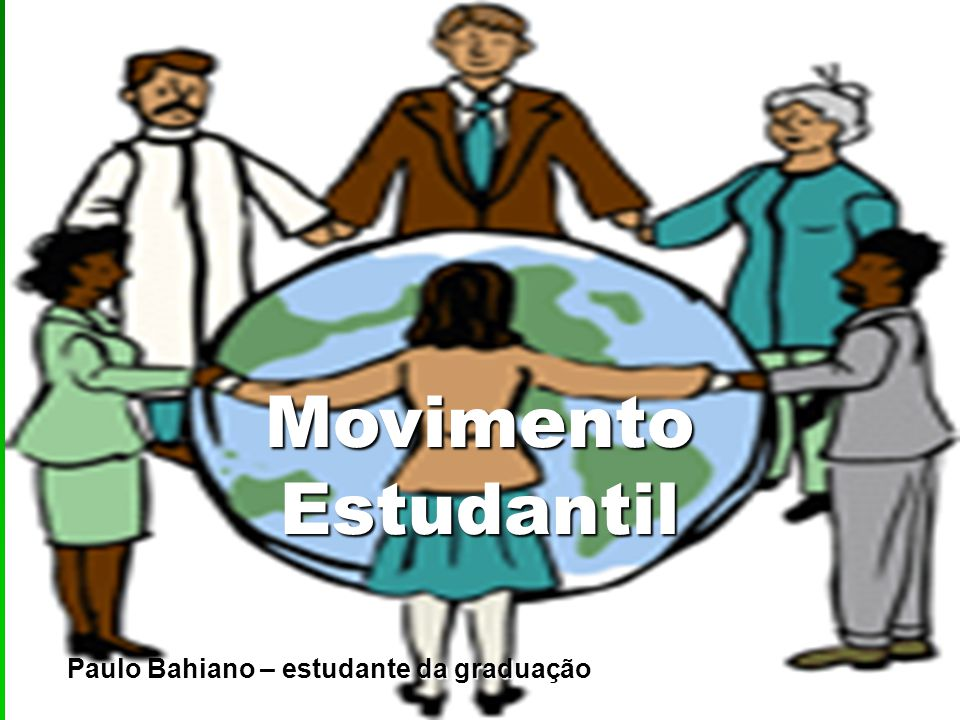 Paulo Bahiano – estudante da graduação