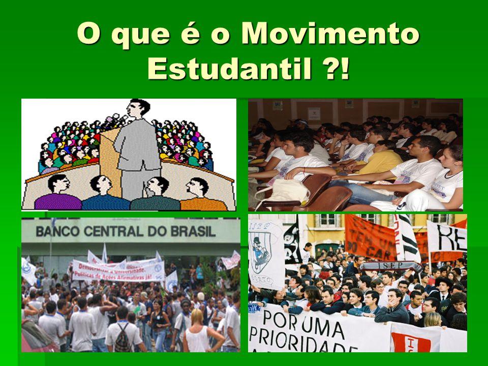 O que é o Movimento Estudantil !