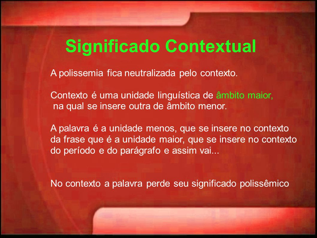 Significado Contextual