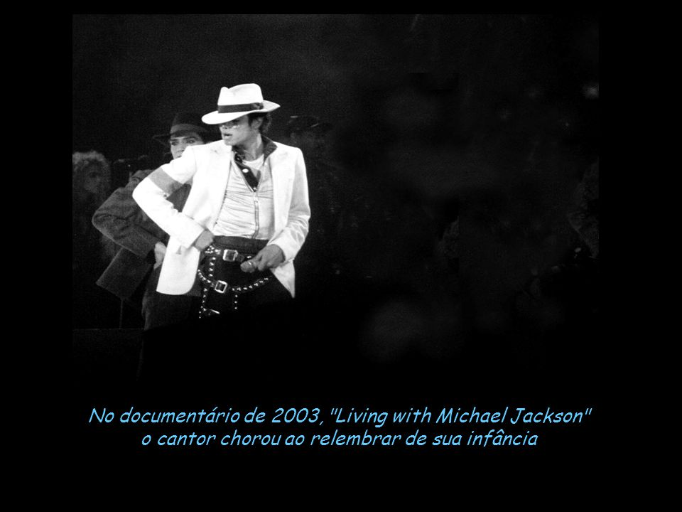No documentário de 2003, Living with Michael Jackson