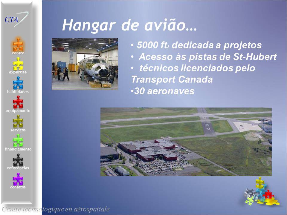 Hangar de avião… 5000 ft2 dedicada a projetos