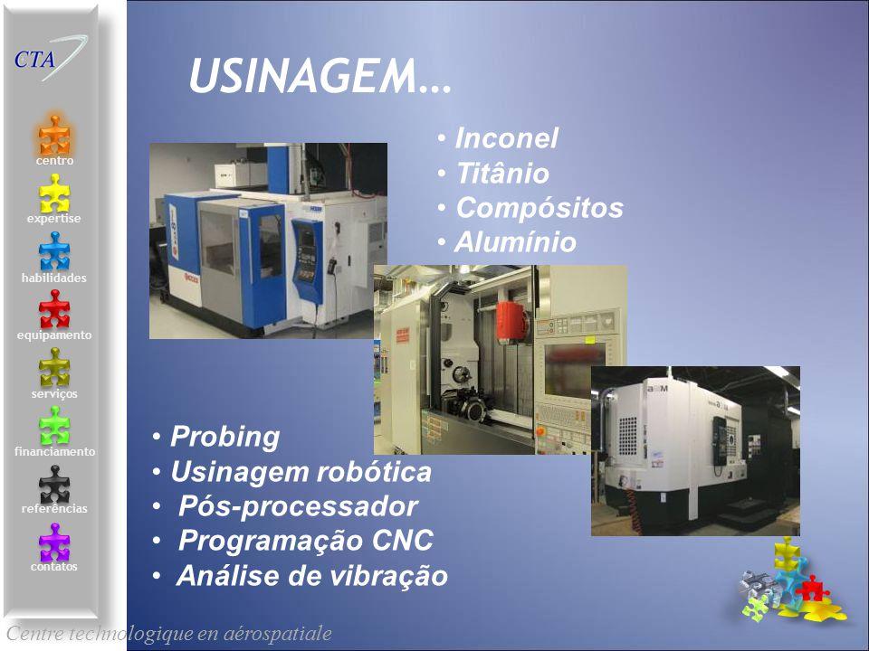 USINAGEM… Inconel Titânio Compósitos Alumínio Probing
