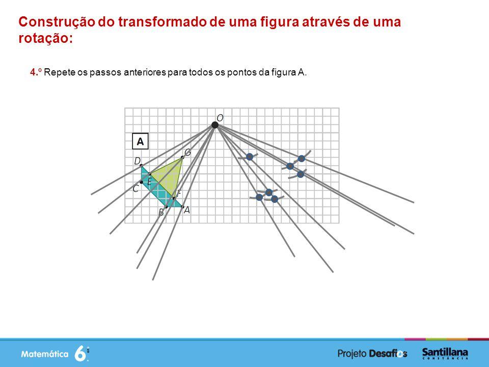 Construção do transformado de uma figura através de uma rotação: