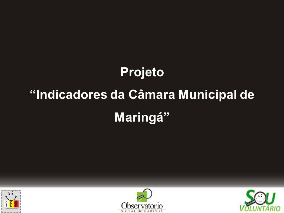 Indicadores da Câmara Municipal de Maringá