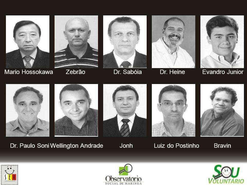 Mario Hossokawa Zebrão. Dr. Sabóia. Dr. Heine. Evandro Junior. Dr. Paulo Soni. Wellington Andrade.