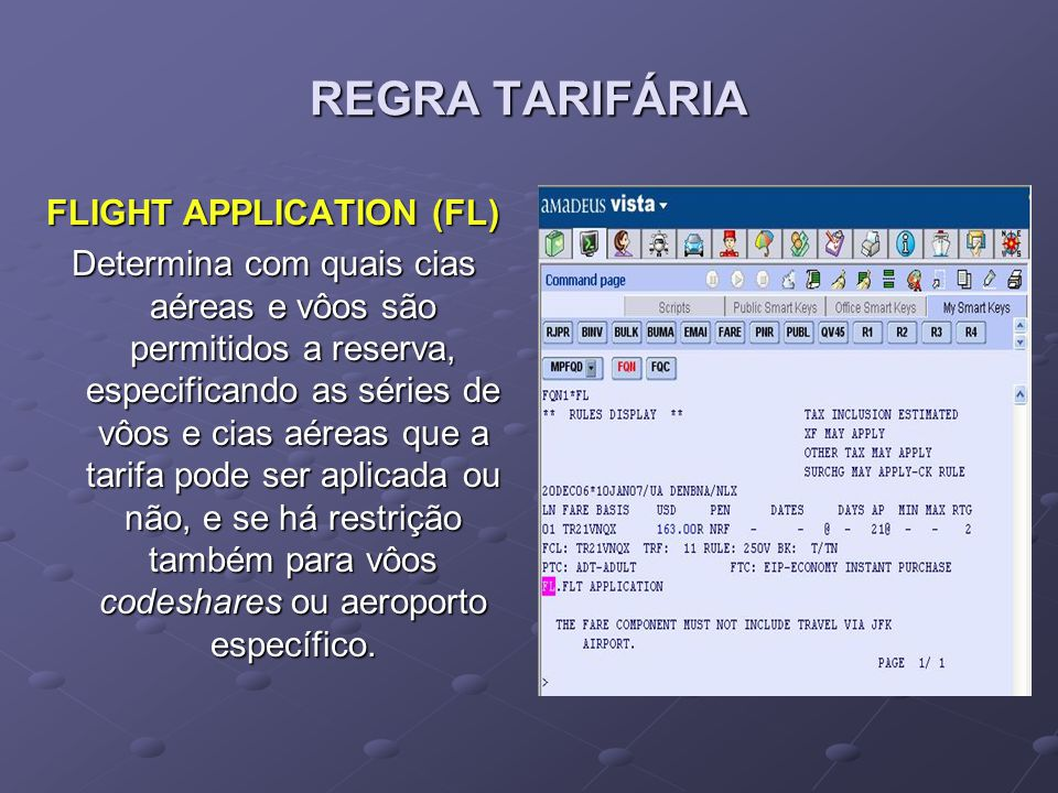 FLIGHT APPLICATION (FL)