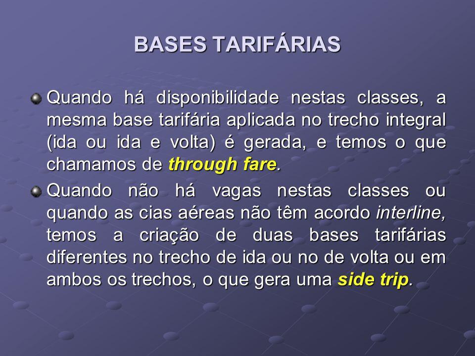 BASES TARIFÁRIAS