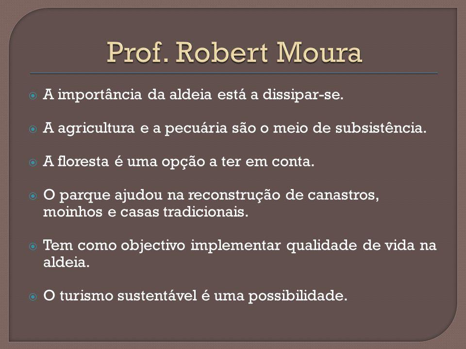 Prof. Robert Moura A importância da aldeia está a dissipar-se.