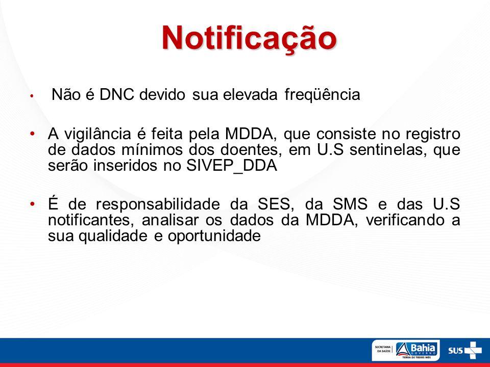 Notificação Não é DNC devido sua elevada freqüência.