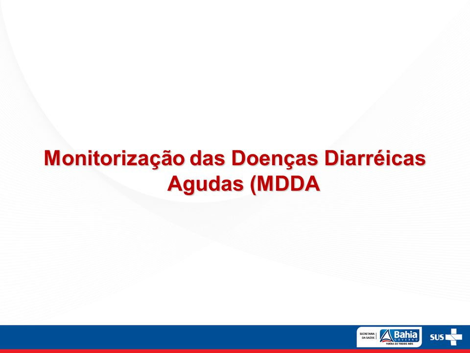 Monitorização das Doenças Diarréicas Agudas (MDDA