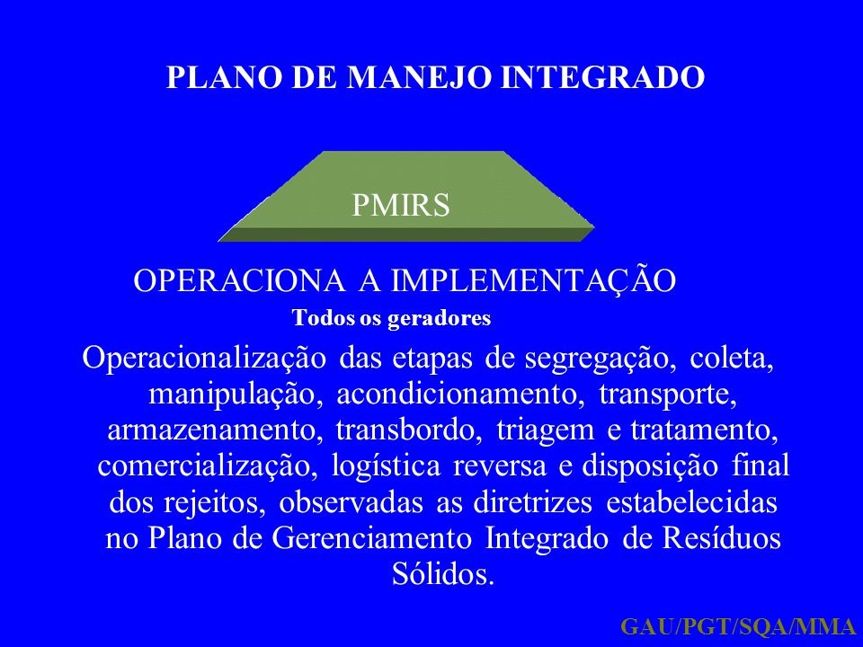 PLANO DE MANEJO INTEGRADO