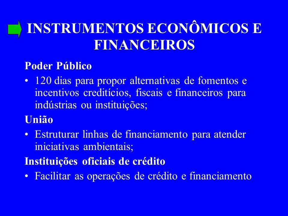 INSTRUMENTOS ECONÔMICOS E FINANCEIROS