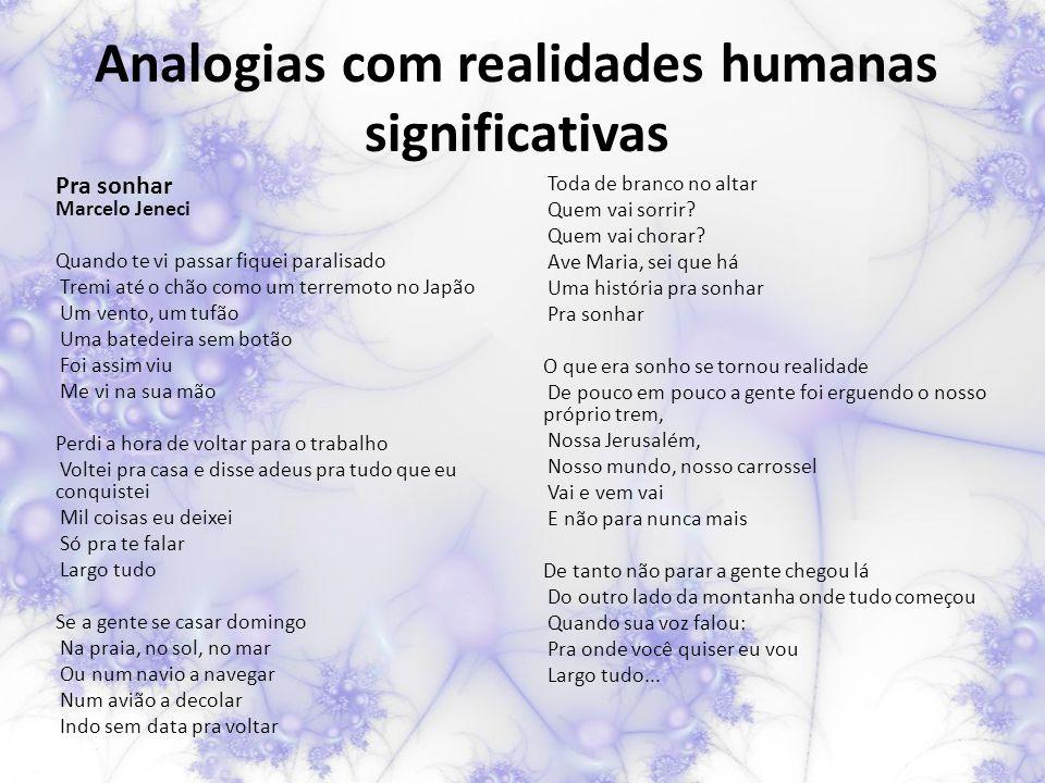 Analogias com realidades humanas significativas