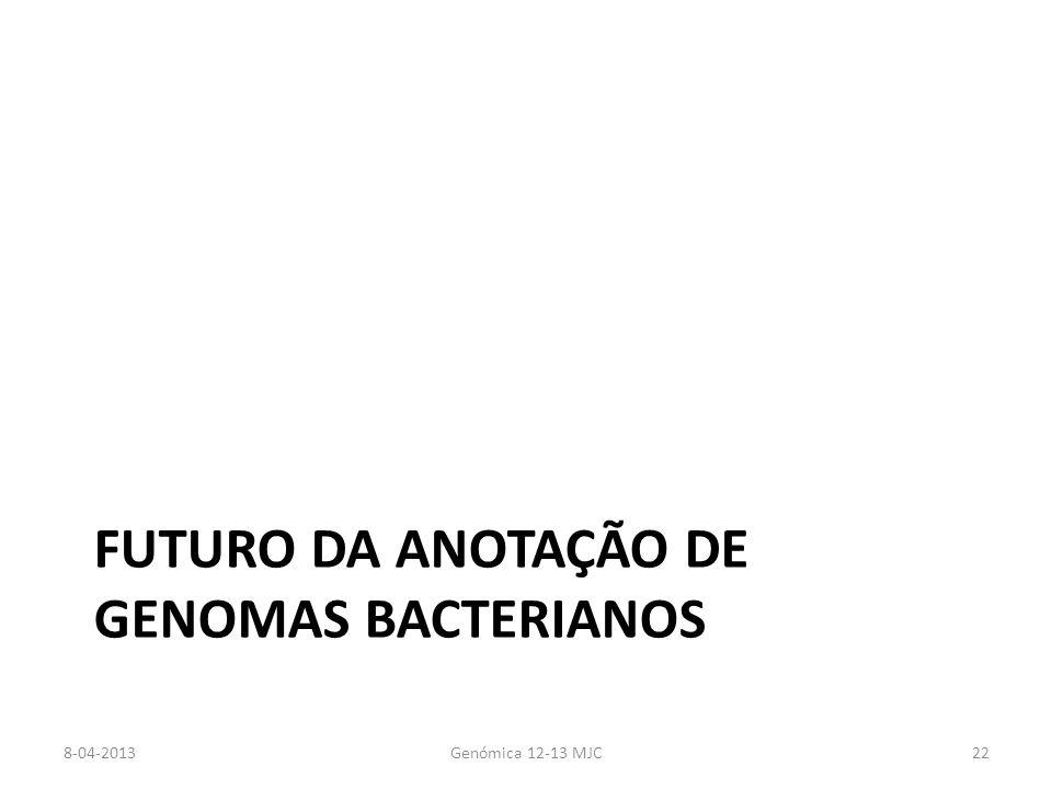 Futuro da Anotação de Genomas bacterianos