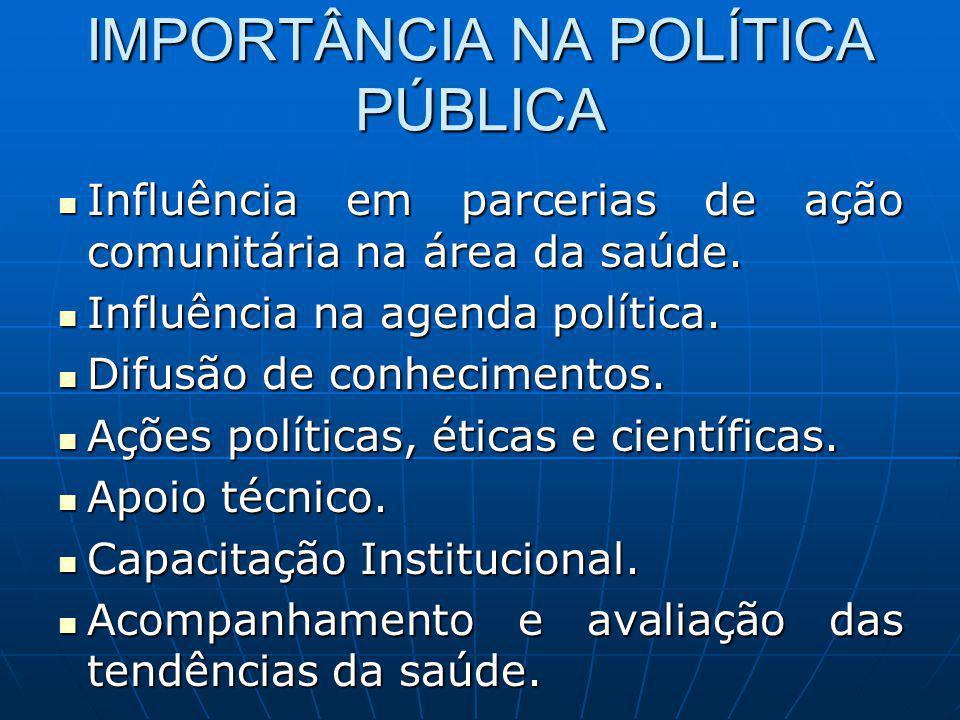 IMPORTÂNCIA NA POLÍTICA PÚBLICA