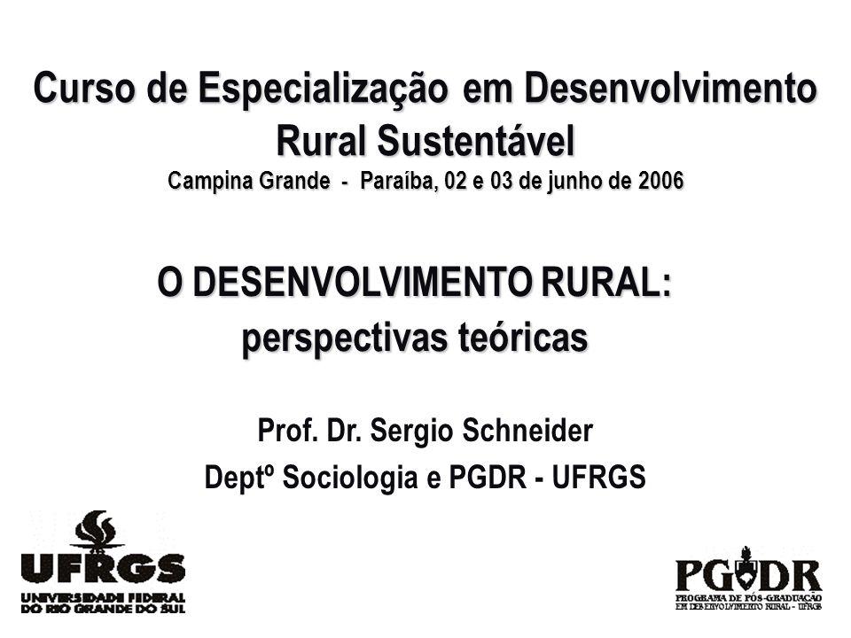 Curso de Especialização em Desenvolvimento Rural Sustentável