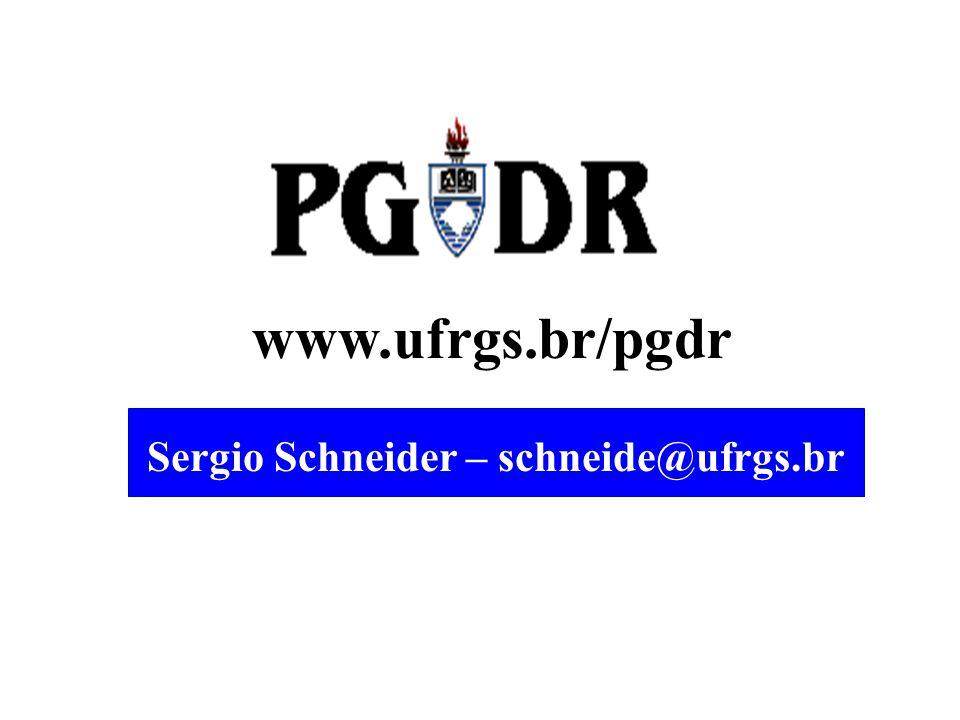Sergio Schneider – schneide@ufrgs.br
