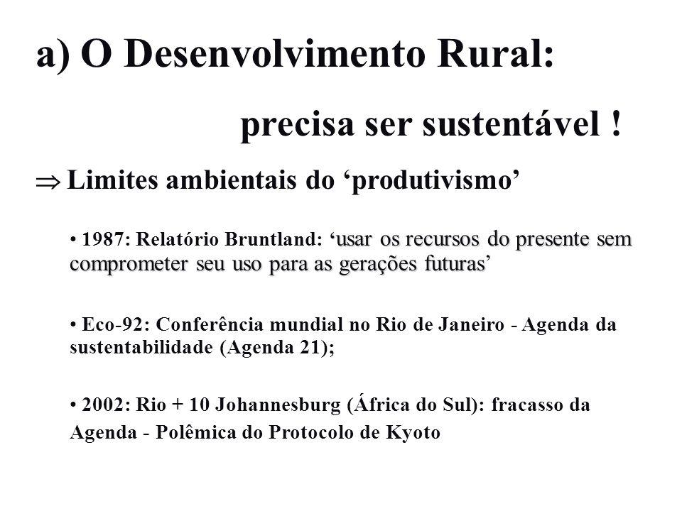 a) O Desenvolvimento Rural: