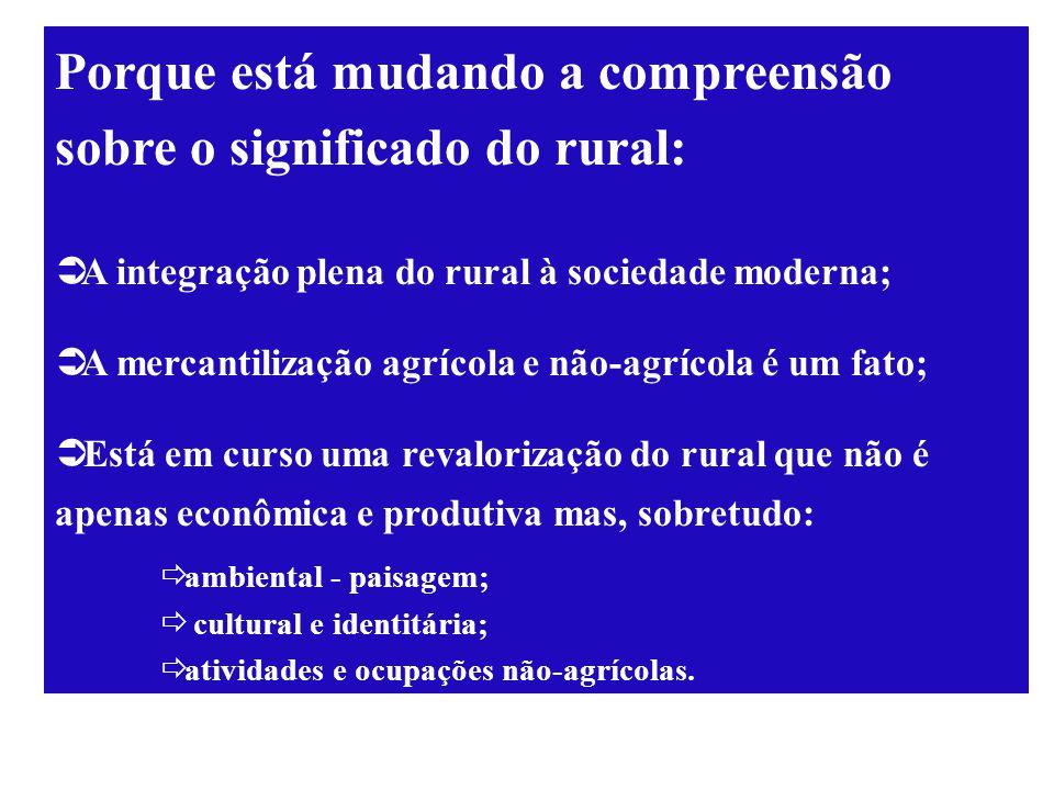 Porque está mudando a compreensão sobre o significado do rural: