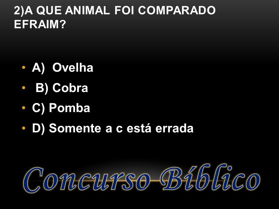 2)A que animal foi comparado Efraim