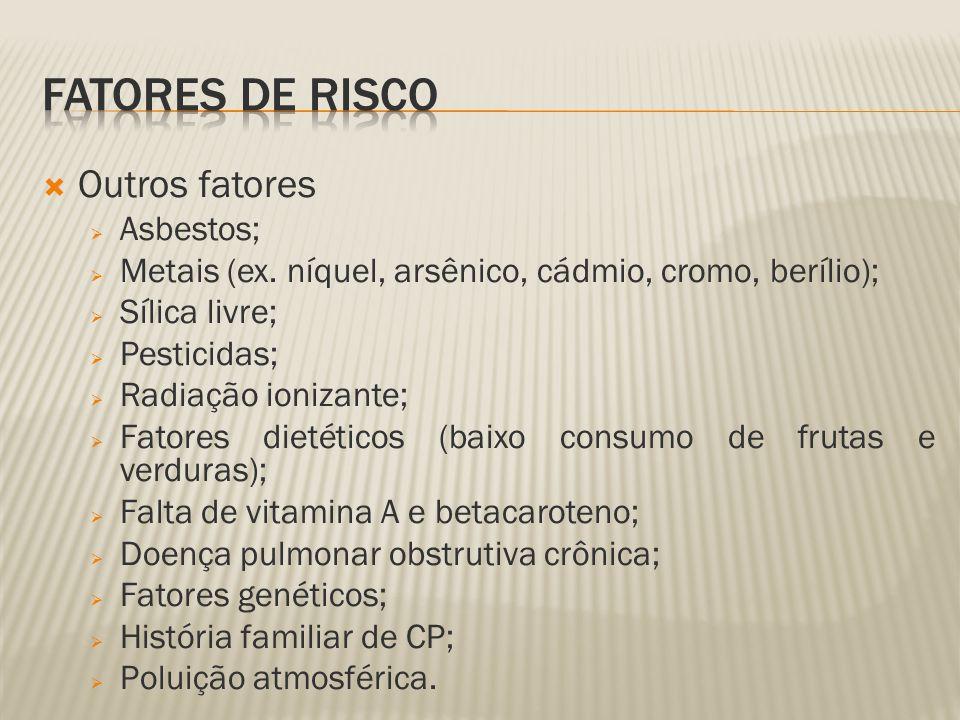 Fatores de risco Outros fatores Asbestos;