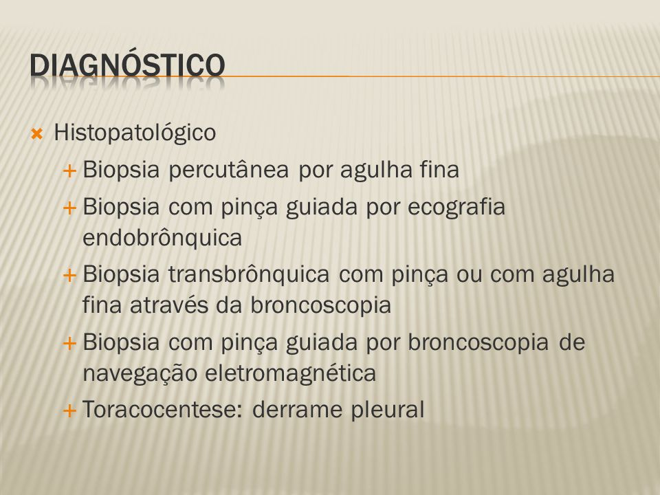Diagnóstico Histopatológico Biopsia percutânea por agulha fina