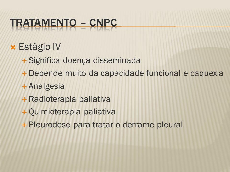 Tratamento – CNPC Estágio IV Significa doença disseminada